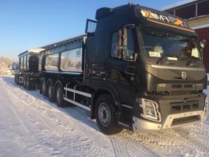 Kassettekipage med 5-axlad vagn, Finland