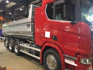 Tridem kassettbil SLP/Scania, Sverige