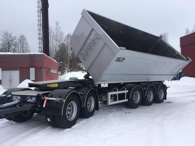 5-axlad tippvagn sidomatic 42 ton, SLP Sverige