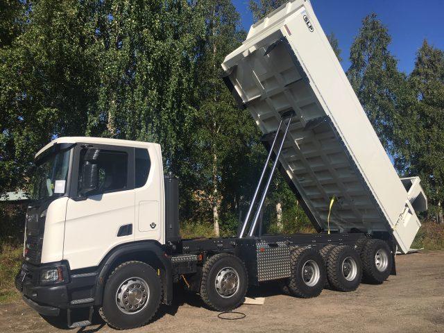5-axlad gruvbil Scania, Sverige/Malmfälten