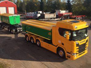 Kassettekipage 64 ton, Scania/SLP Sverige