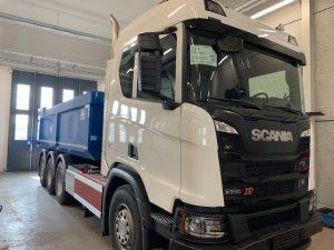 4-axlad kassettbil 32 ton, Scania Sverige