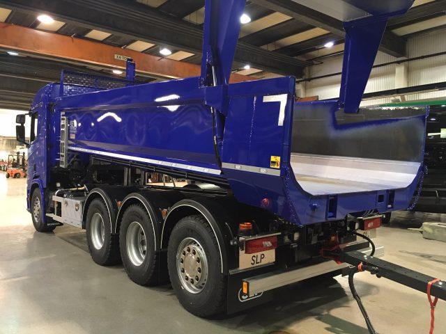 62 tons kassettekipage Scania/SLP, Sverige