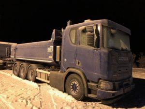 4-axlad kassettbil Scania, Sverige