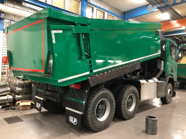 3-axlad gruvbil Scania, Boliden