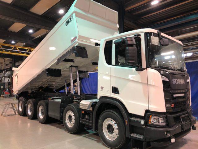 5-axlad gruvbil Scania/SLP, Sverige